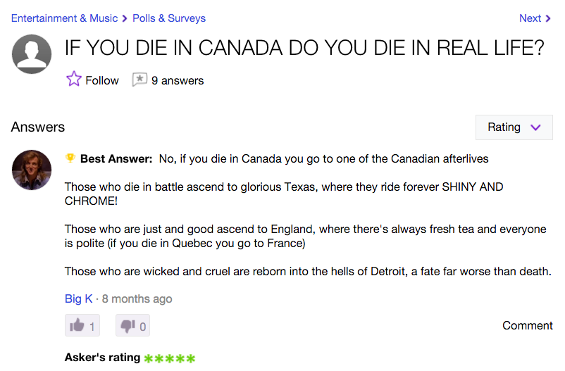 Yahoo answers talk to shemales
