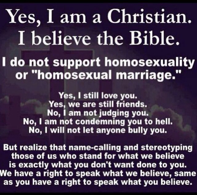 want to be gay dont Christian