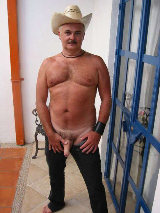 gay pic Older man nude